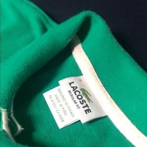 Lacoste Regular Fit Size 5 Solid Green Polo